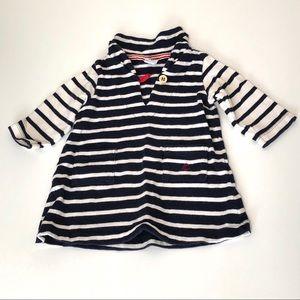 Petit Bateau Cotton Striped Dress Size 6 months